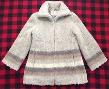 HILDA LTD - Vtg 60s Iceland Wool Gray Thick Lined Winter Zip Coat, Womens SMALL