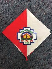 Early 1950s 60s San Gorgonio OA Lodge 298 Neckerchief With Patch Boy Scout BSA