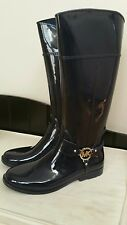NWB MICHAEL Michael Kors Fulton Harness Tall Rainboots in Navy sz 10M
