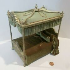 EXQUISITE DOLLHOUSE MINIATURE BED DRESSED BEAUTIFULLY SIGNED PJ'S