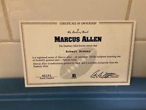 Danbury Mint  -  Oakland Raiders Marcus Allen  -   C.O.A