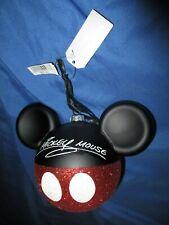 MICKEY MOUSE Hidden Mickey Ears Christmas Ornament DISNEY PARKS Blown Glass