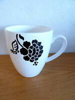 "Waechtersbach Sharp Black & White Mug Germany      4 1/4"""