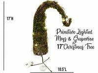 Grinch Moss Grapevine Lighted Easter Christmas Tree Home Farm Tabletop Decor Vtg