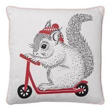 Cojín con Squirrel Blanco Rosa Rojo 50x50cm Algodón Bloomingville