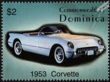 1953 CHEVROLET CORVETTE (Chevy) Mint Automobile Car Stamp (2003 Dominica)