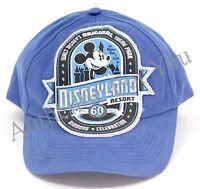 Disneyland 60th Anniversary Diamond Celebration D60 Blue Youth Baseball Hat Cap