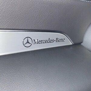 1 x Mercedes Benz AMG chrome sticker logo alu sticker emblem lettering 3D