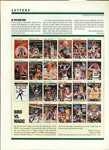1992 SPORTS ILLUSTRATED LARRY BIRD & MAGIC JOHNSON MAGAZINE AD