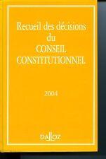 Recueil des décisions du Conseil constitutionnel, 2004