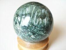 "SERAPHINITE (Clinochlore) sphere ball w/stand 71.1mm (2.8""), 456grams (1(+) lb)"
