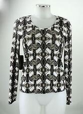 Apriori Top 38 Shirt schwarz beige langarm Viskose Top neu mit Etikett