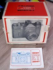 ZENIT ET RARE Russian SLR camera USSR in a box with case lens HELIOS 44-2