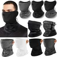 Summer Breathable Balaclava Neck Gaiter Tube Bandana Face Scarf Cover Drawstring