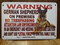 "Metal Warning German Shepherd Dog Sign For FENCE ,Beware Of Dog 8""x12"""