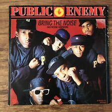 Public Enemy Bring The Noise (no Noise Version) 12inch Single Vinyl