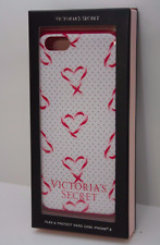 NIB VICTORIA'S SECRET WHITE RED HARD FLEX CASE iPHONE 6 COVER HEARTS & POLKA DOT