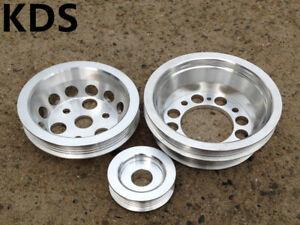 Underdrive pulley kit for 04-08 Mazda RX8 RX-8 1.3L Renesis 13B-MSP 3PCS