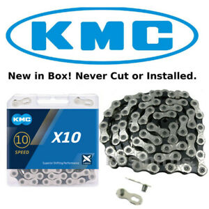 KMC X10 SILVER BLACK 10 Speed Bike Chain fits Shimano Campagnolo SRAM X10.93