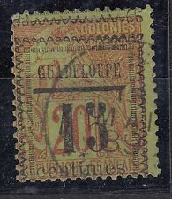 GUADELOUPE  TIMBRE COLONIE  FRANCE  OBL  N° 8 CACHET SURCHARGE DECALE