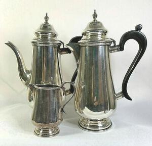 Hecworth Silver EPNS Bakelite Handle Coffee Pot Chocolate Pot Milk Jug Art Deco