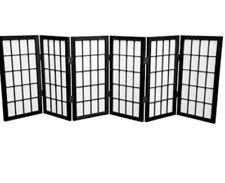 2ft tall window shoji 6 panels Black