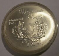 Canada Montreal Olympics 1976  Uncirculated 5 Dollar Silver Olympic Rings 1974