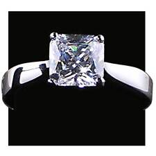 Elegant Square Radiant Cut Solitaire Engagement Ring_Size-7_Nf_925 Silver