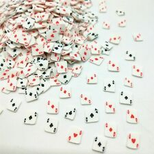 20g/lot Ace Poker Playing Cards Polymer Clays Particles Mud Klei Plastic 5mm