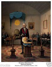 George Washington MASTER MASON FREEMASONRY Alexandria VA Fine Art Print Poster