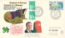 "CE52-IC FDC Council of Europe ""Azerbaijan Adhesion - Visit Mr. ALIYEV"" 01-2001"