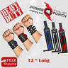 Power Punch WEIGHT LIFTING GYM TRAINING WRIST SUPPORT STRAPS WRAPS BODYBUILDING