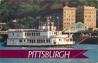 Pittsburgh Pennsylvania Gateway River Belle Riverboat P&LERR 1988 Postcard