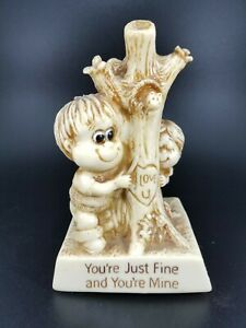 """Vintage R&W Berries Co """"You're Just Fine and You're Mine"""" Novelty Gift Figurine"""