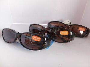 3 Pair Solar Shield Fashion Polarized Sunglasses Fits Over Glasses, Size Medium