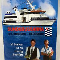 Vintage 1980s Helsingborg Helsingor Ferry Boat Menu Elsinore Denmark Sweden