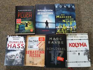 Krimi / Thriller Buchpaket 7 Bücher