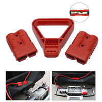 PAIR 175AMP 600V Plug CABLE TERMINAL BATTERY POWER CONNECTOR+ HANDLE RED UK