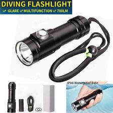 80m XM-L2 T6 72000 LM LED Diving Scuba Flashlight Underwater Torch Light Lamp UK