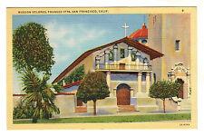 Mission Dolores - San Francisco Photo Postcard c1940s / California