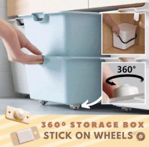 360º Storage Box Stick-On Wheels