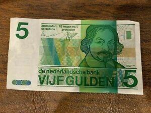 Netherlands Amsterdam 1973 5 gulden Dutch VIJF Gulden