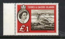 TURKS and CAICOS Islands 1960 QEII £1 MNH SG 253 Cat. £48