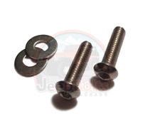 TJ Jeep Wrangler Windshield Cap Head Hinge Bolts Rust Proof Stainless 4 Part Set