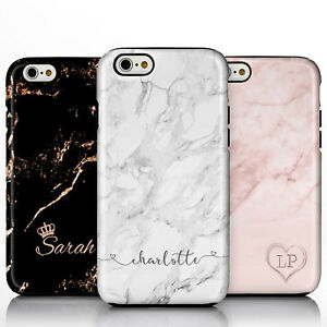 Personalised Marble Rose Gold Crown Heart Handwriting TPU Phone Case for iPhone