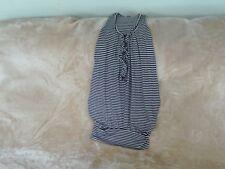 Womens Size 10 - Black/White Striped Stretch Vest Top - WalG