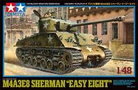 Tamiya US Medium Tank M4A3E8 Sherman Easy Eight 1/48 scale tank kit 32595