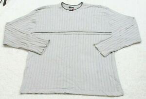 Anchor Blue Sweater Gray Acrylic Cotton Crewneck Men's Man's Solid XXL 2XL