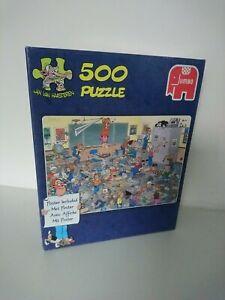 """Jan van haasteren 500 piece jigsaws """"Find the mouse!"""" school classroom"""