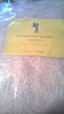 New Pottery Barn Kids FULL QUEEN Feather Knit BLANKET Lavender purple girls
